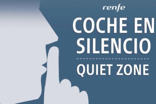 Coche en silencio - Renfe